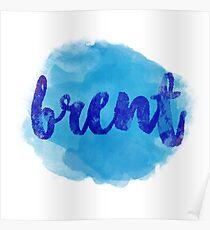 BRENT Blue Poster