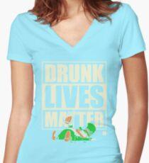 St. Patrick's Day Drunk Lives Matter Women's Fitted V-Neck T-Shirt