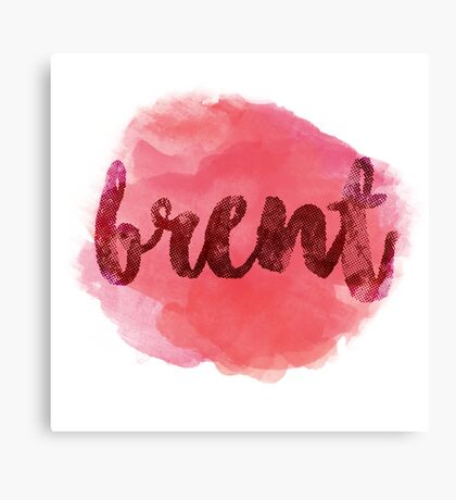 BRENT Red Canvas Print