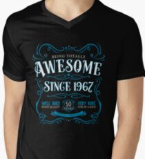 50th Birthday Gift Awesome Since 1967 Blue T-Shirt