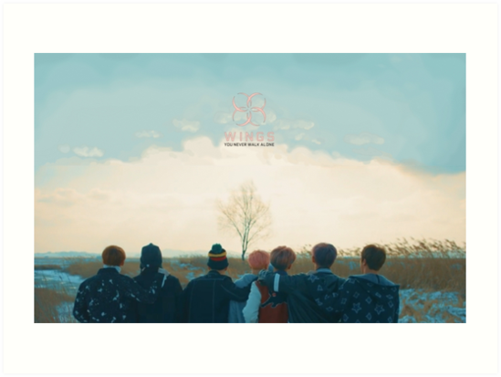 Bts Spring Day Art Prints By Ctlessard Redbubble