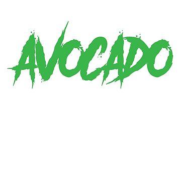Powered by Avocado Vegan Vegetarian by treasuregnome