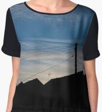 Landscape silhouette Chiffon Top