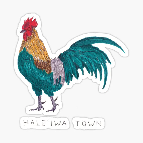 Hale'iwa Town Chicken Sticker