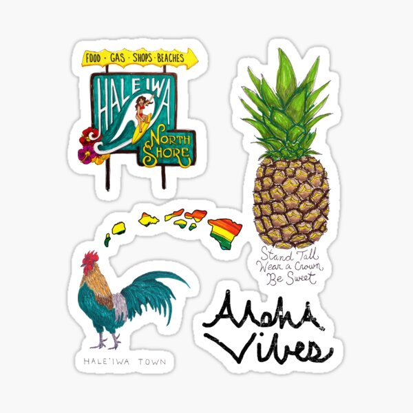 Hale'iwa Sign Drawing - STICKER PACK / WOMAN Sticker