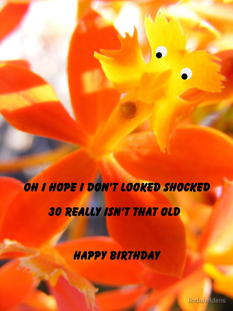 30th birthday a little shocking by lindaheldens