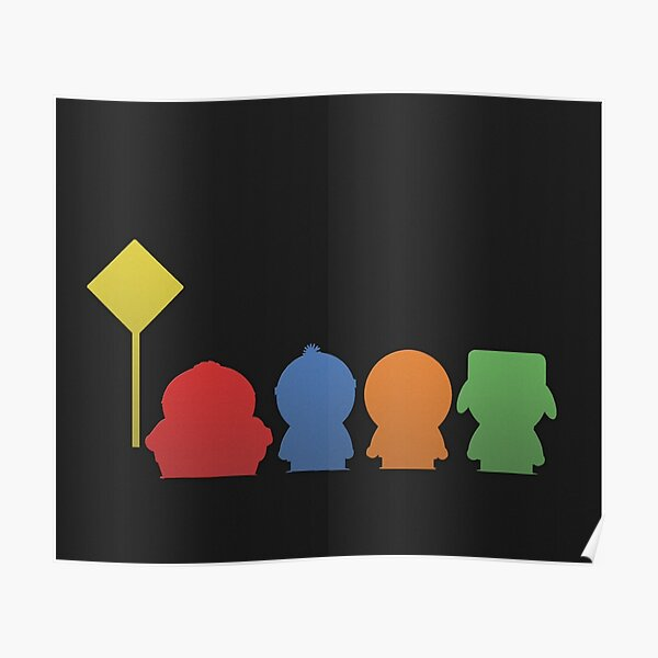 Minimalistic South Park Poster