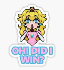 Oh! Did I win? Sticker