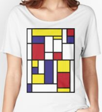 MONDRIAN HOMAGE Women's Relaxed Fit T-Shirt