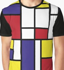 MONDRIAN HOMAGE Graphic T-Shirt