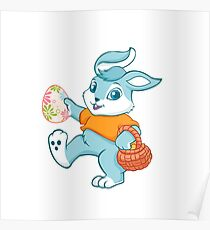 Easter bunny rabbit Poster