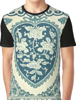 Cute Popular Vintage Floral pattern With Retro Rose Flowers And Victorian Decor Leaves Graphic T-Shirt