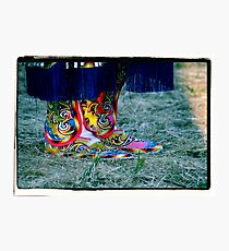 Beaded Moccasins Photographic Print