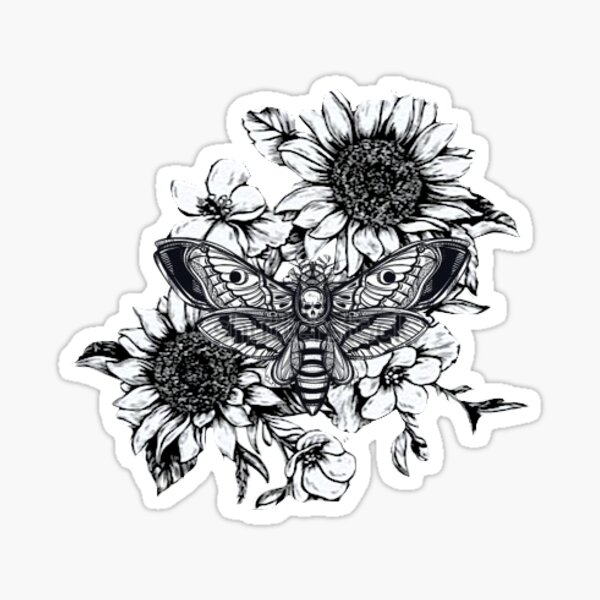 Silence of the flowers Sticker