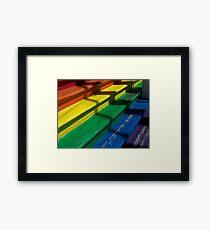 Rainbow Stairs Framed Print