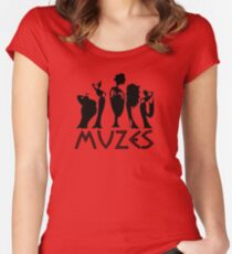 MUZES Women's Fitted Scoop T-Shirt