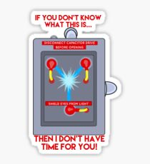 Flux Capacitor - If you don't know Sticker