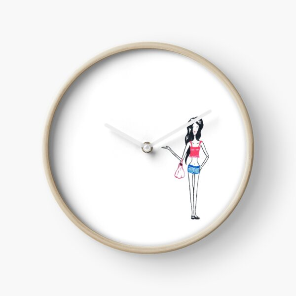 Posh girl Clock