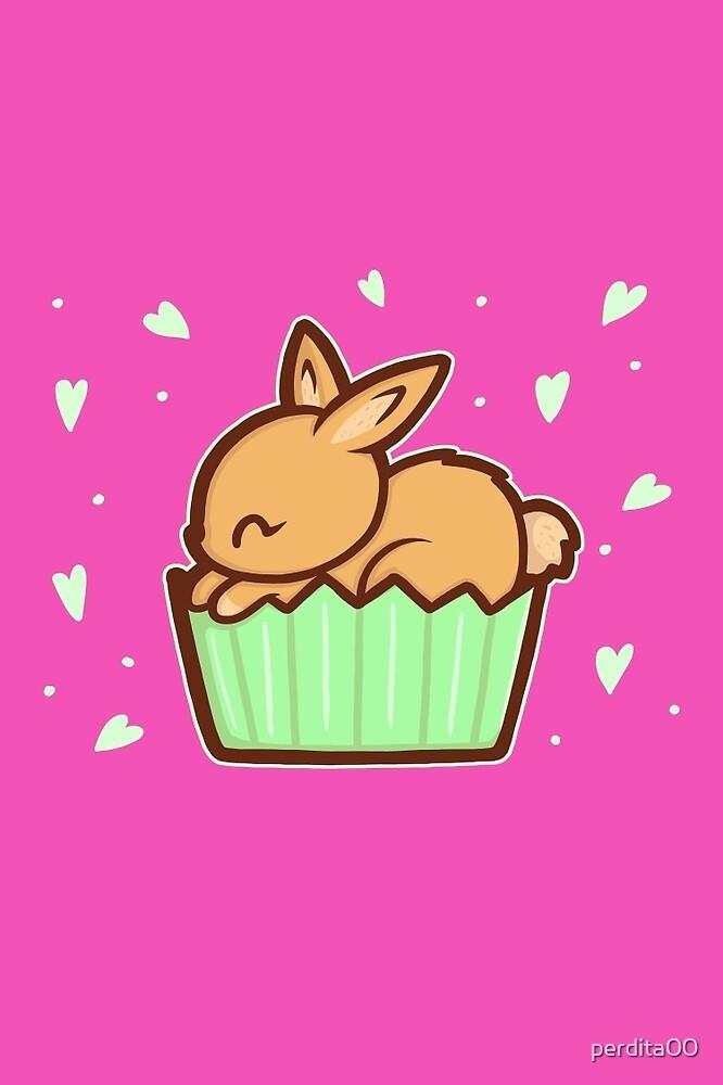 Bunny Cupcake by perdita00