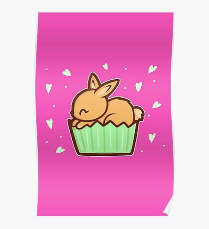 Bunny Cupcake Poster