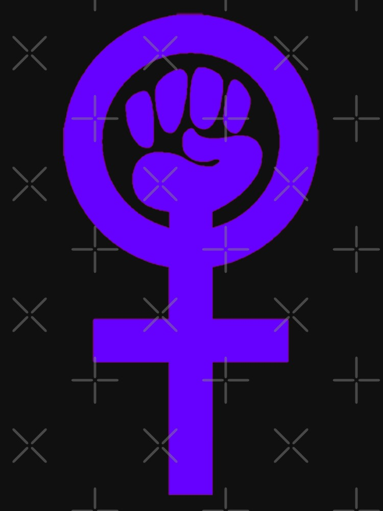 Woman Feminist Power Symbol 5 Womens T Shirt By Thelittlelord