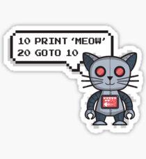 Robocat Sticker