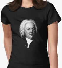 Johann Sebastian Bach, Perhaps the Greatest Composer Ever Women's Fitted T-Shirt
