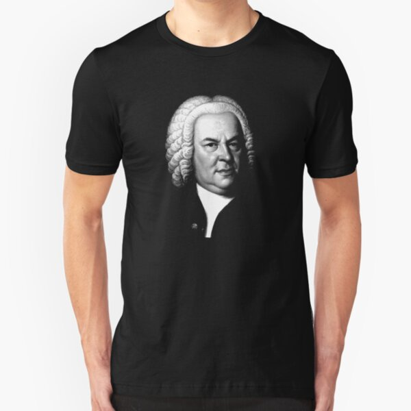 Johann Sebastian Bach, Perhaps the Greatest Composer Ever Slim Fit T-Shirt