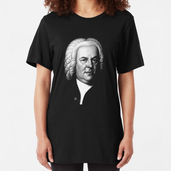 Johann Sebastian Bach, Perhaps the Greatest Composer Ever Slim Fit T-Shirt