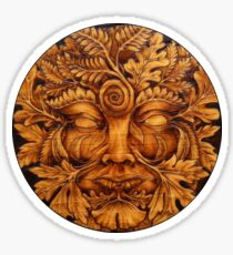 Mask of the GreenMan Sticker