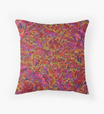 Tapestry(red) Throw Pillow
