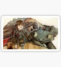 hiccup and toothless Sticker