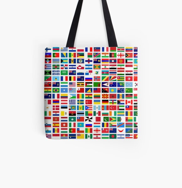 Flags of the world All Over Print Tote Bag