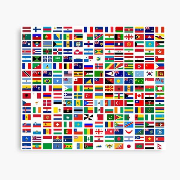 Banderas del mundo Lienzo