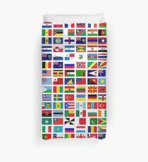 Flags of the world Duvet Cover