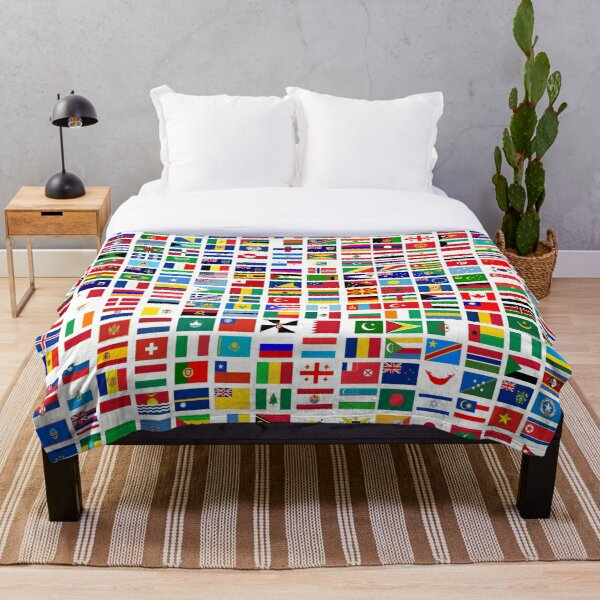Flags of the world Throw Blanket