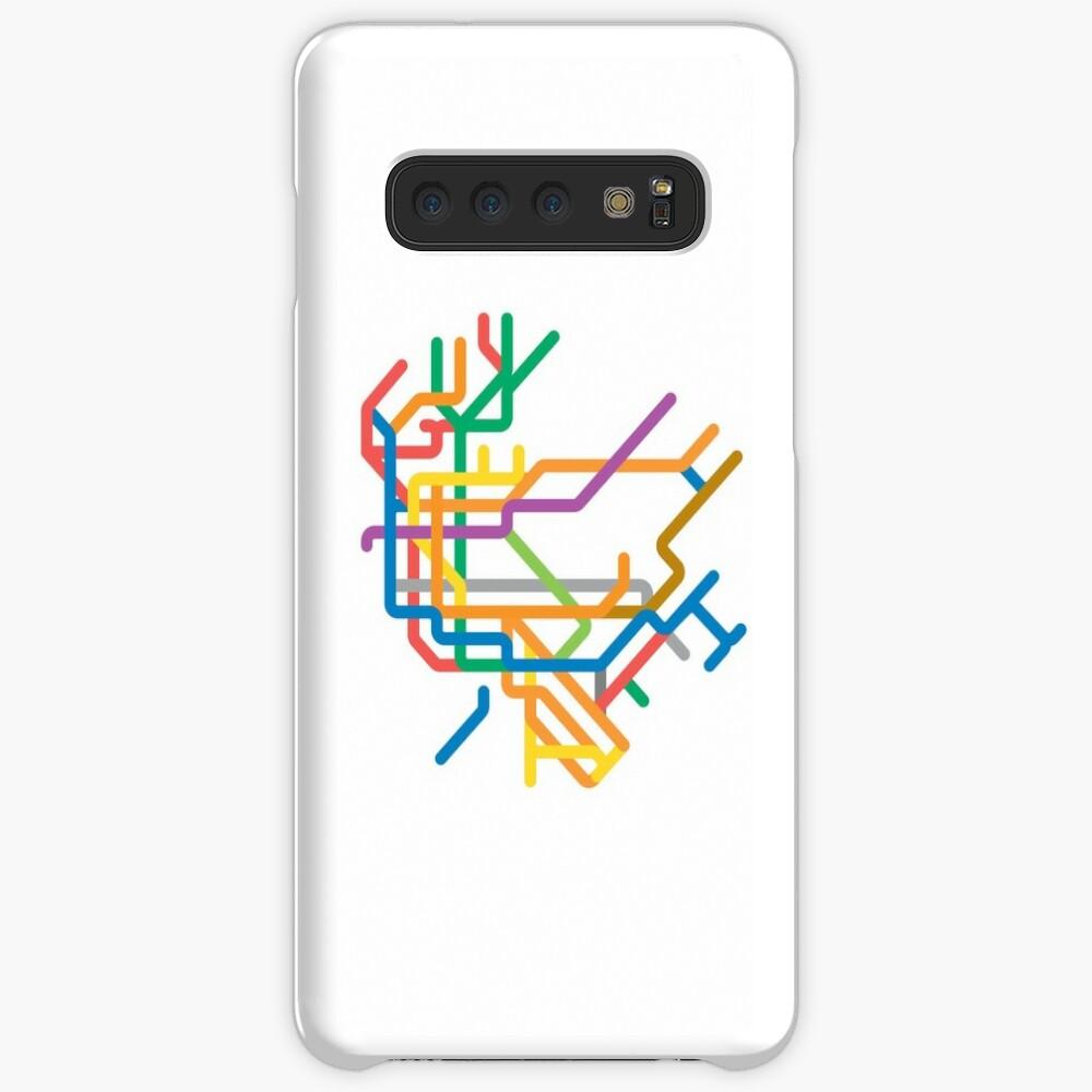 Mini Metros - New York, États-Unis Coque rigide Samsung Galaxy