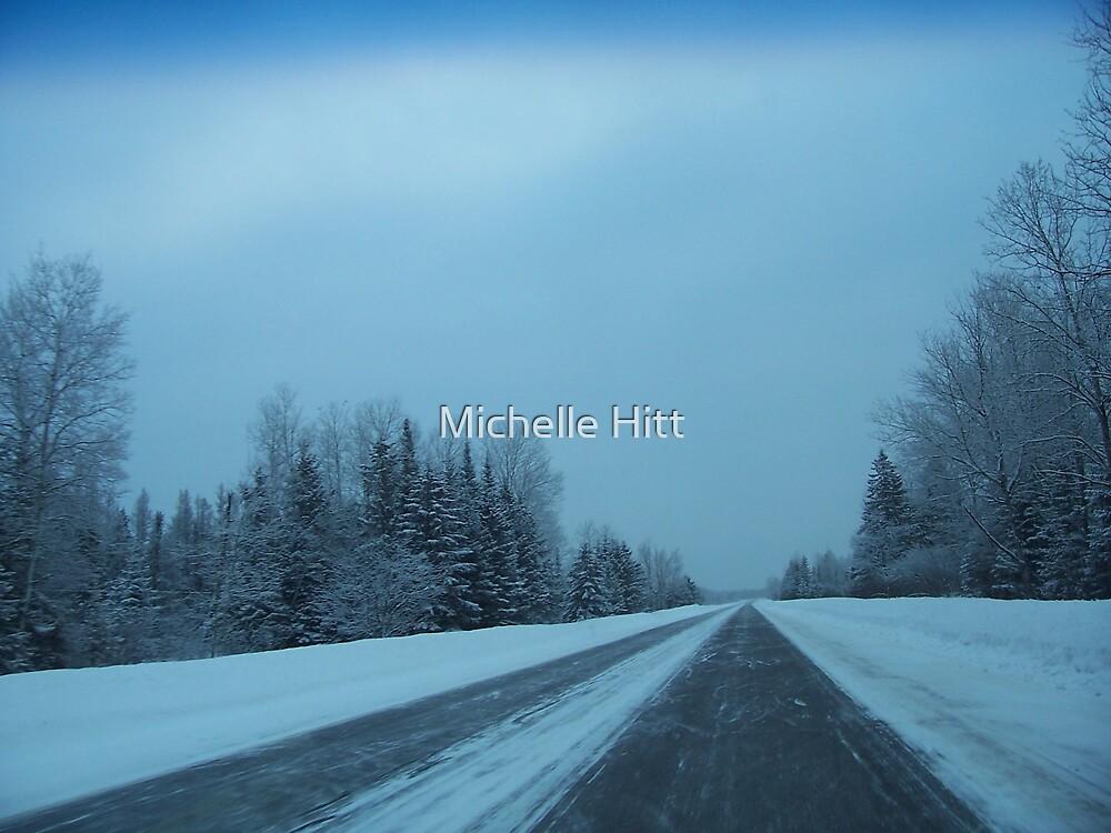 Snowy Road by Michelle Hitt