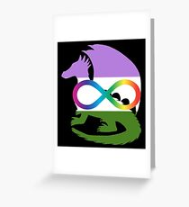 Neurodivergent Genderqueer Pride Dragon Greeting Card