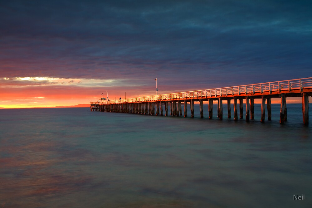 Fishing in Golden Light by Neil