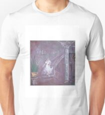 lady with rose  on castle stairs Unisex T-Shirt