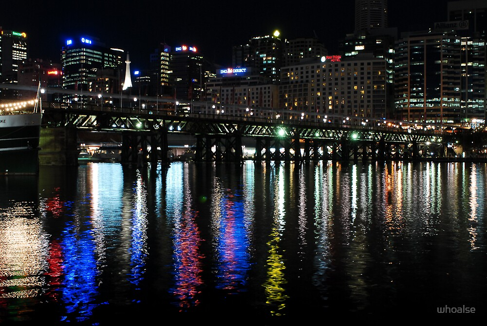 Reflection of Lights in Sydney by whoalse