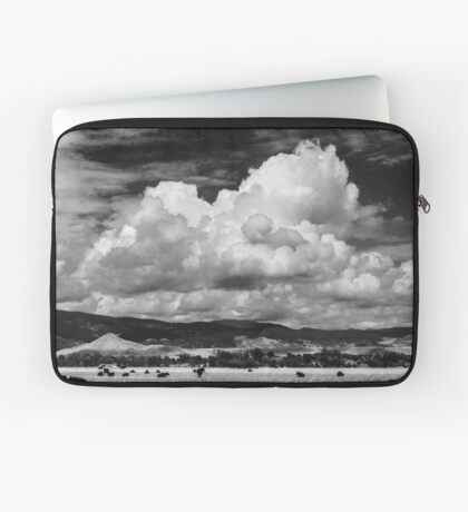 Colorado Cattle Ranch In Black and White Laptop Sleeve