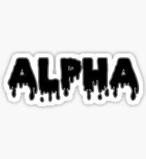 drippy alphaa Sticker