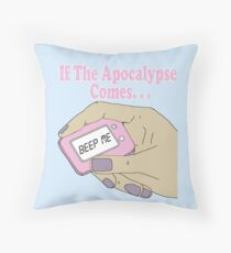 Buffy The Vampire Slayer Beep Me Throw Pillow
