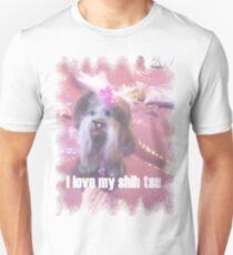 SHIH TSU  in pink  Unisex T-Shirt