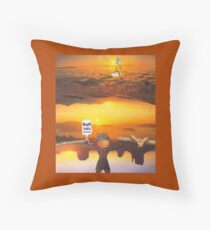M Blackwell - Layerland 2: Saluting Four Sunrises Throw Pillow