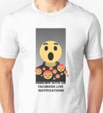 DAMMED FACEBOOK LIVE NOTIFICATION Unisex T-Shirt
