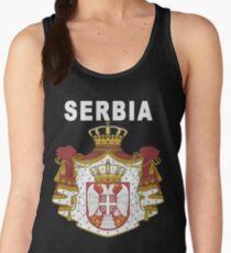 Serbia National Football Fan Jersey Design Women's Tank Top