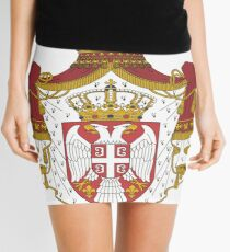 Serbia National Football Fan Jersey Design Mini Skirt